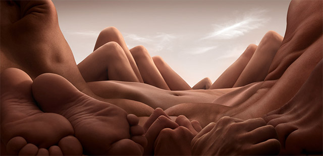 Landscapes Formed from Human Bodies by Carl Warner